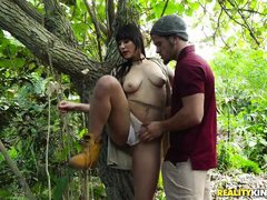horny hikers fuck out in the woods