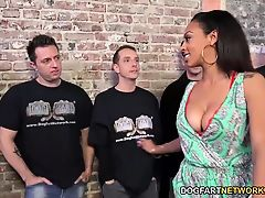 Cherry Hilson Sucks And Fucks A Dozen White Cocks