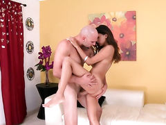 Brunette cant wait to be take money shot on her nice face