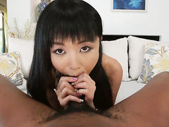 Seductive oriental seductress Marica Hase her best to make