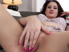 Carla Mai is horny as hell and fucks herself with sex toy with wild passion