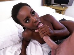 Chocolate Simone Styles spends her sexual energy with