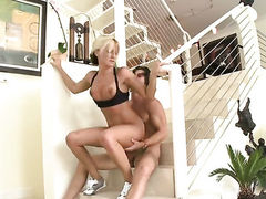 Blonde Val Malone with bubbly butt takes