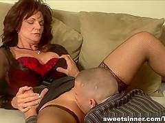Incredible pornstar in Exotic Redhead, Mature sex clip