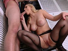 Foxy Mom Vanessa Cage Slamms With Her Stepson