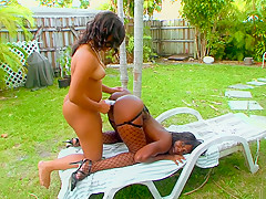 Fabulous pornstars Sunset Pearl and Vengeance Pimpin in incredible mature, black and ebony adult clip