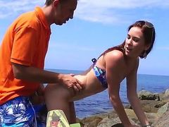 Tysen Rich is not afraid to do it in the public. She went down on