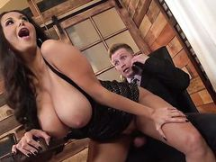 Bill Bailey uses his rock solid pole to make Brunette Ava Addams with big knockers happy