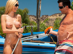 Jessie Rogers In Anal Car Wash Angels, Scene 1