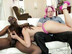 busty kayla enjoys playing with a big black cock @ mom's cuckold #17