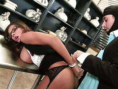 Madison Ivy with gigantic jugs cant resist the desire
